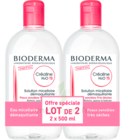 Crealine Ts H2o Solution Micellaire Sans Parfum Nettoyante Apaisante 2fl/500ml à Saint-Brevin-les-Pins