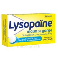 LysopaÏne Comprimés à Sucer Maux De Gorge Sans Sucre 2t/18 à Saint-Brevin-les-Pins
