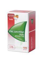Nicorette 2 mg Gomme à mâcher médicamenteuse sans sucre fruits Plq/105 à Saint-Brevin-les-Pins