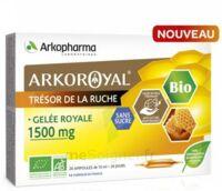 Arkoroyal Gelée royale bio sans sucre 1500mg Solution buvable 20 Ampoules/10ml à Saint-Brevin-les-Pins