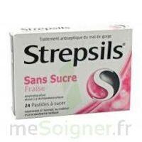 Strepsils Fraise Sans Sucre, Pastille édulcorée à L'isomalt, Au Maltitol Et à La Saccharine Sodique à Saint-Brevin-les-Pins
