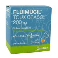 Fluimucil Expectorant Acetylcysteine 200 Mg Sans Sucre, Granulés Pour Solution Buvable En Sachet édulcorés à L'aspartam Et Au Sorbitol à Saint-Brevin-les-Pins