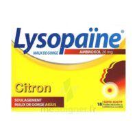 LysopaÏne Ambroxol 20 Mg Pastilles Maux De Gorge Sans Sucre Citron Plq/18 à Saint-Brevin-les-Pins