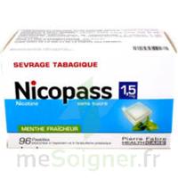 Nicopass 1,5 Mg Pastille Sans Sucre Menthe Fraîcheur Plq/96 à Saint-Brevin-les-Pins
