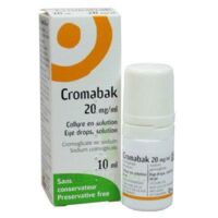 Cromabak 20 Mg/ml, Collyre En Solution à Saint-Brevin-les-Pins