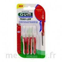 GUM TRAV - LER, 0,8 mm, manche rouge , blister 4 à Saint-Brevin-les-Pins