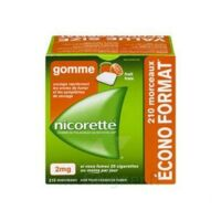 Nicorette 2 mg Gomme à mâcher médicamenteuse sans sucre fruits Plq/210 à Saint-Brevin-les-Pins