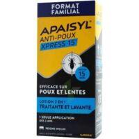 Apaisyl Anti-poux Xpress 15' Lotion antipoux et lente 200ml+peigne à Saint-Brevin-les-Pins